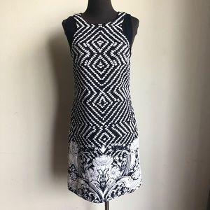 INC sz M floral geo print halter shift dress